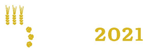 Maaseudulta Käsin -messujen logo. Logossa on viljantähkiä ja kukkia | Maaseudulta Käsin -messut.