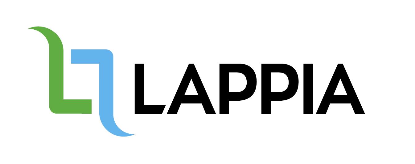 Lappia -opiston logo. Logossa lukee tikkukirjaimin Lappia.