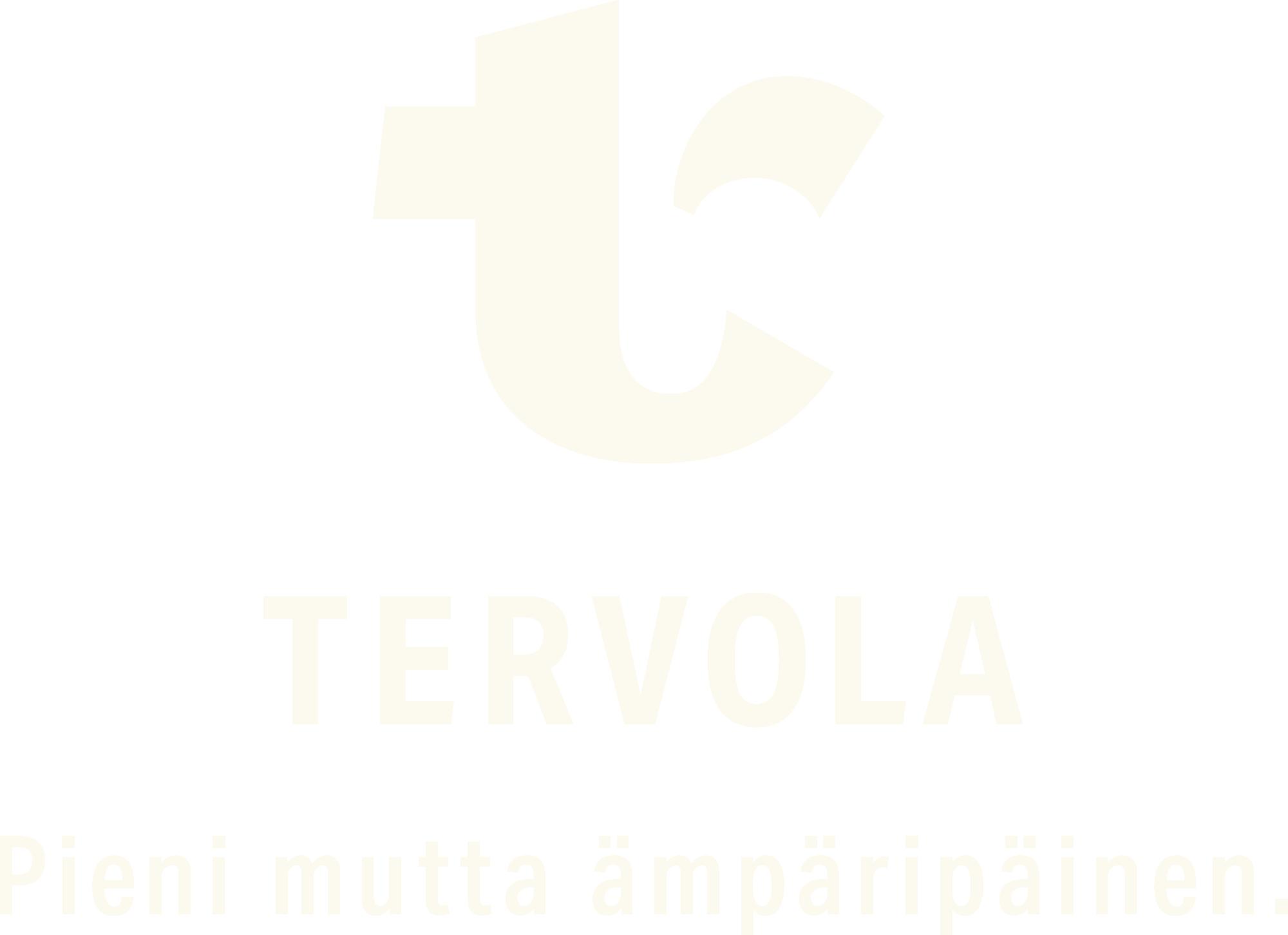 Tervolan kunnan logo: pieni mutta ämpäripäinen